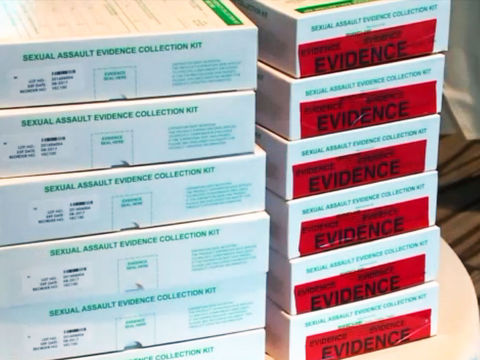 Symbolic rape kits sent to governors across the country