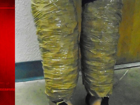 Border Patrol arrests woman with drugs taped to legs