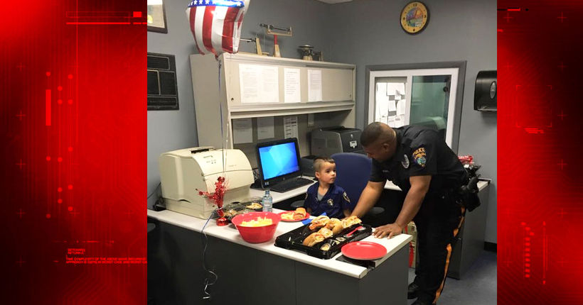 Boy, 5, saves allowance for seven months to buy police department lunch