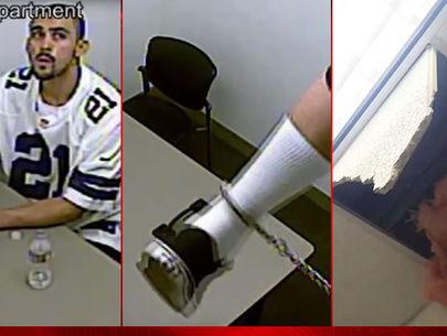 Watch: Las Vegas murder suspect escapes custody
