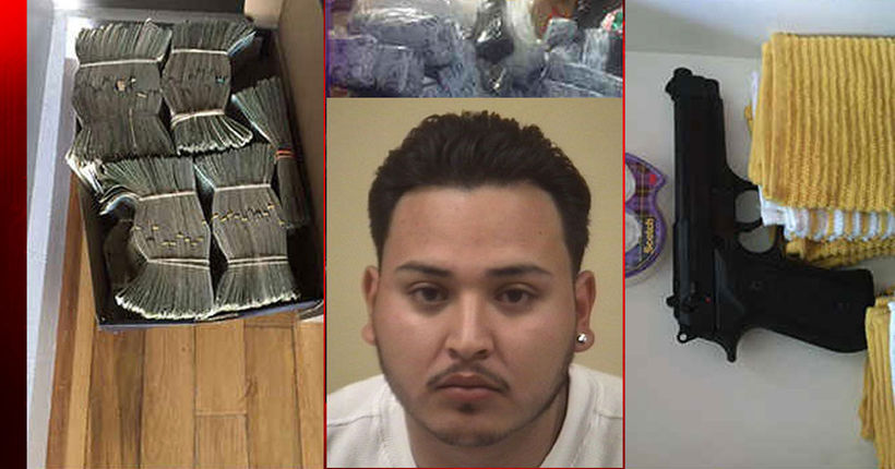 Murder suspect captured with nearly 900 pounds of marijuana