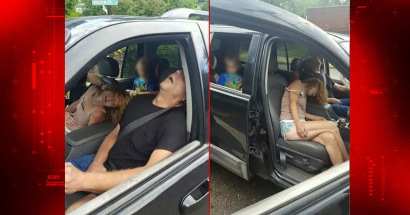 Police post pictures of adults who O.D.ed with 4-year-old in car
