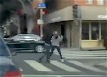 Dash cam catches good Samaritans chasing purse-snatcher