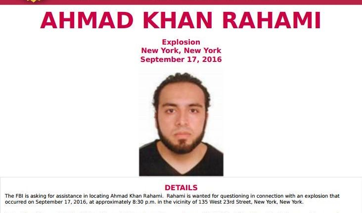 NJ man wanted in connection to NYC bombing 'considered armed and dangerous': FBI