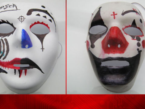 Masks found near school after reports of clown with knife