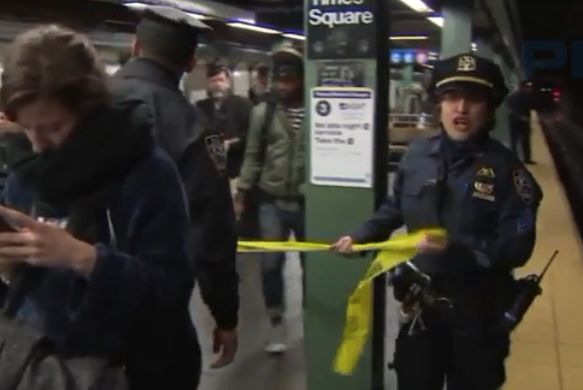 Woman charged with murder in fatal Times Square subway push