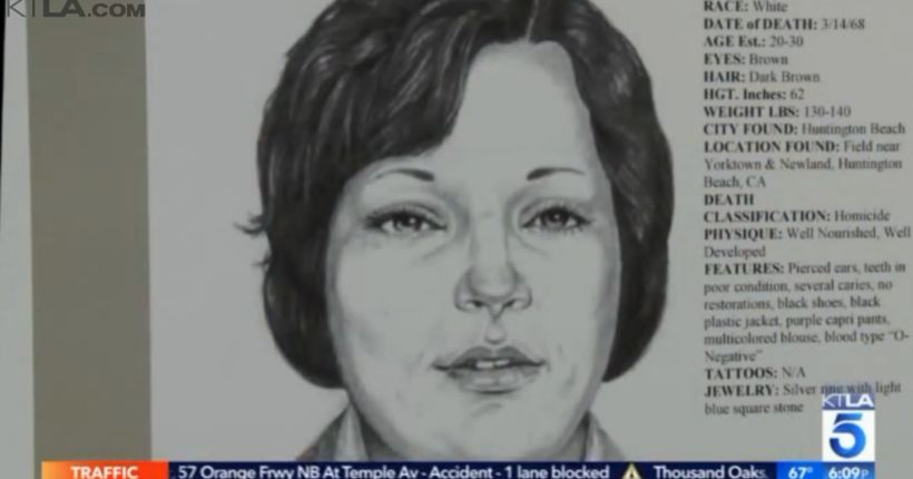 Police release photos of victim's body in Huntington Beach cold case 48 years after her death