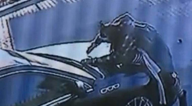 Video shows suspect vandalizing car for hours
