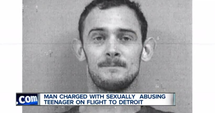Man charged with groping girl on flight from Mexico to Michigan