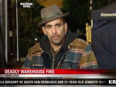 'Ghost Ship' manager visits scene of deadly fire