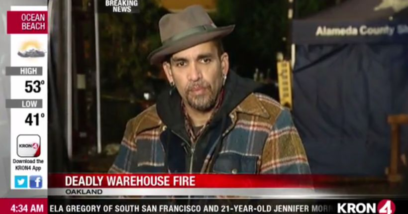 'Ghost Ship' manager Derick Ion visits scene of deadly fire