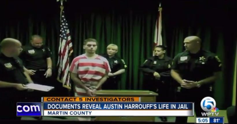 Austin Harrouff jail records reveal strange gifts