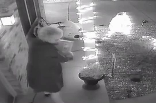 'Granny who stole Christmas' caught on camera, arrested