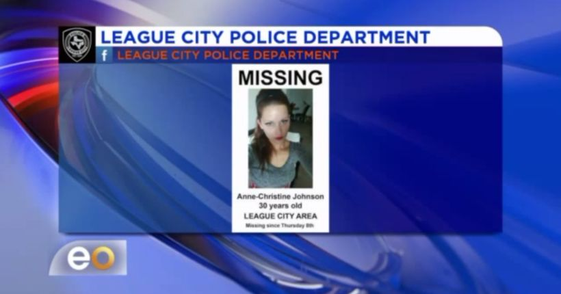 Search for missing young mother in League City