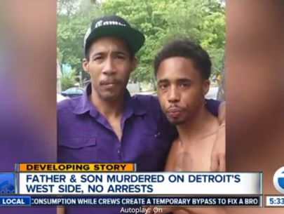 Police investigating murder of father and son in Detroit