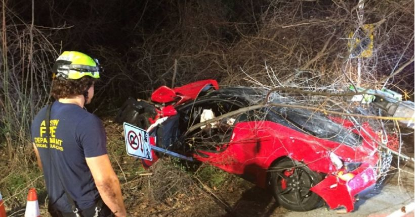$385K Ferrari destroyed in suspected drunk driving crash in West Austin