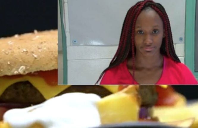 Fast food worker arrested for putting menstrual blood, saliva on burger before serving