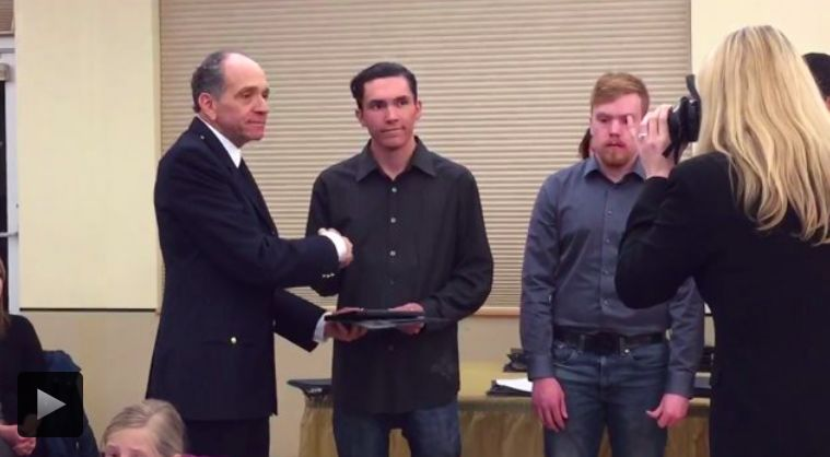 Police honor 3 men who saved woman from sexual assault