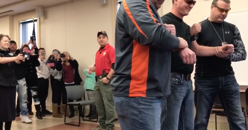 Police help teen with leukemia fulfill dream of using stun gun