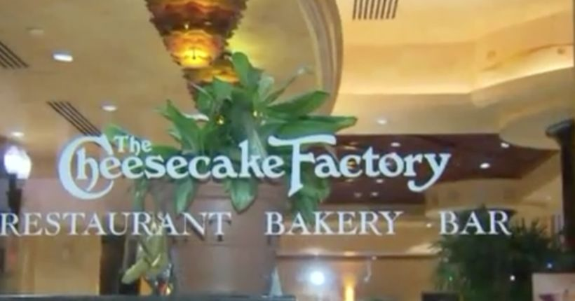 Man sought for Cheesecake Factory explosion