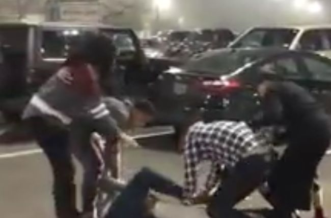 Caught on video: Customers fight over spot in H-E-B parking lot