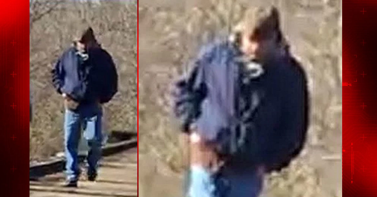 man photographed on trail now officially a suspect in murders of