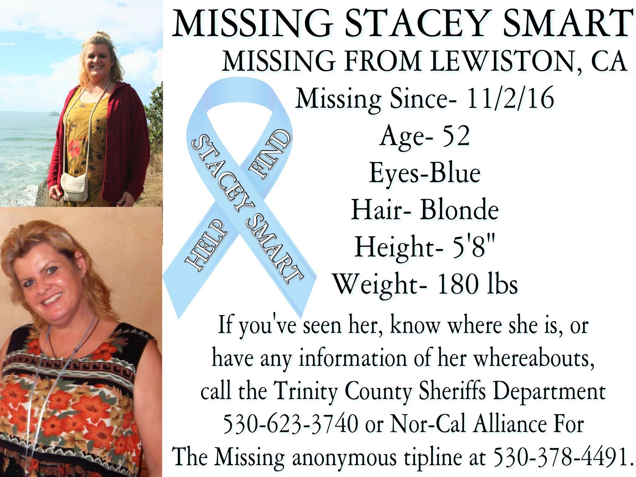 Help find Stacey Smart poster Nicole Santos HO