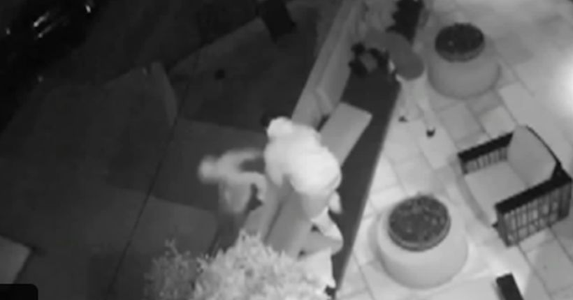 Burglary in Hollywood Hills caught on surveillance camera