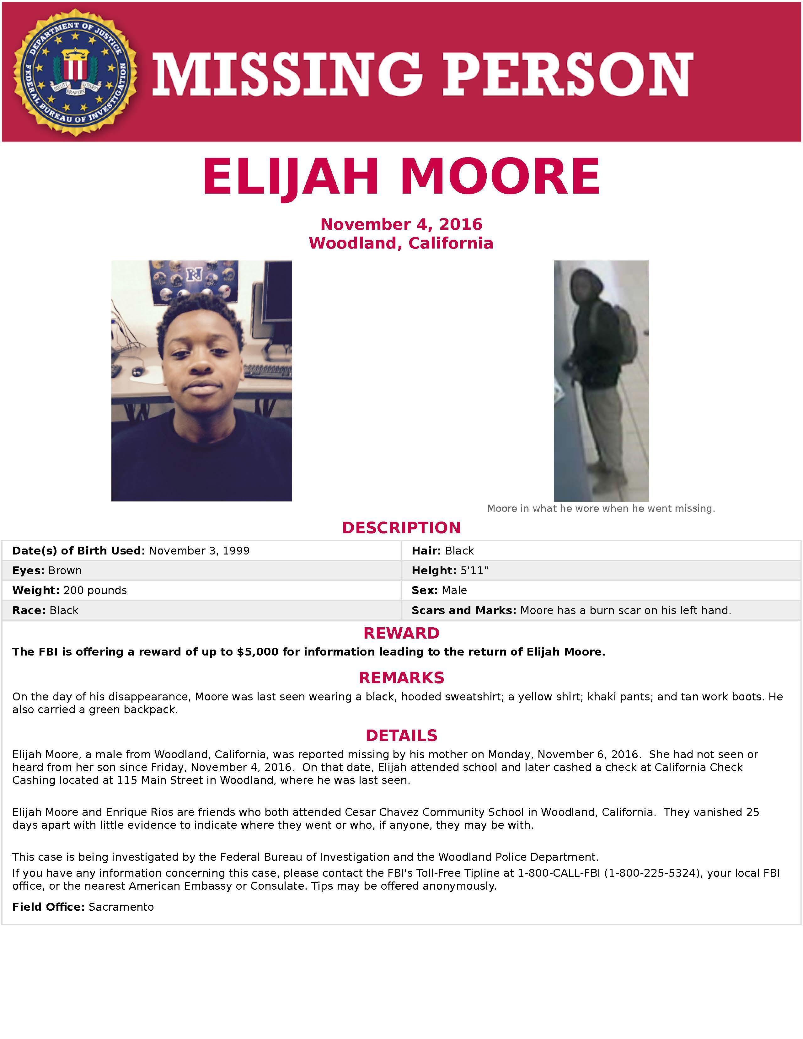 Elijah Moore Missing Poster_FBI HO