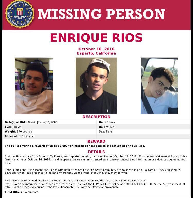 Enrique Rios Missing Poster_FBI HO