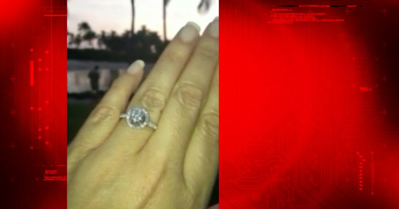 Engagement ring stolen after couple gets married on TV