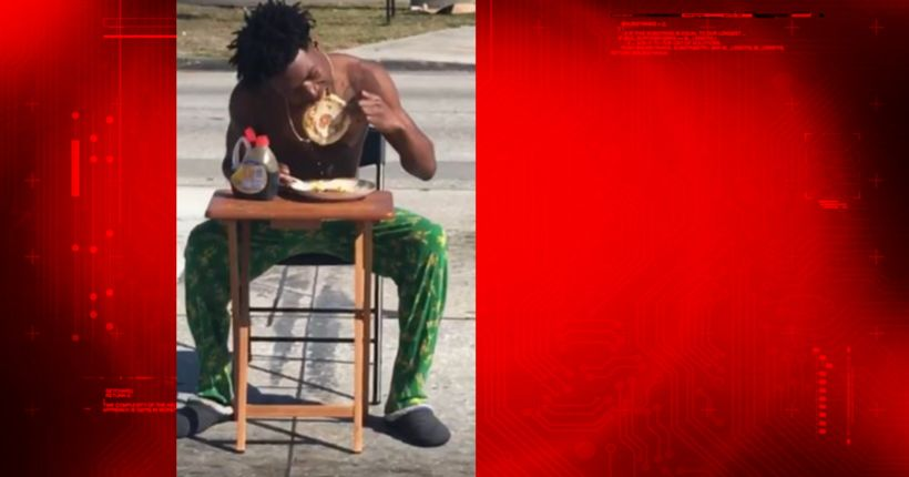 Florida man charged after eating pancakes in the middle of street