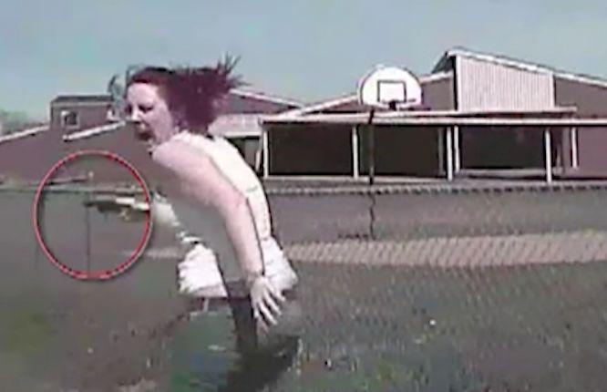 Tulsa dashcam video: Shooting suspect run over by patrol car