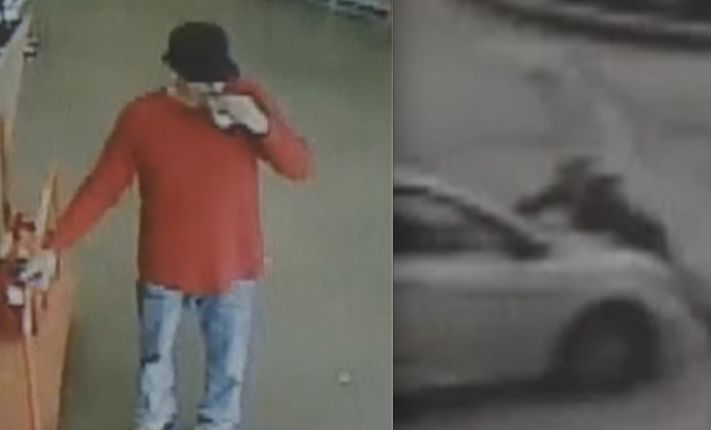 Video: Woman clings to moving car to stop suspected shoplifter