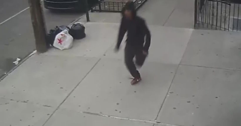 Video of man police say climbed fire escape, attempted rape