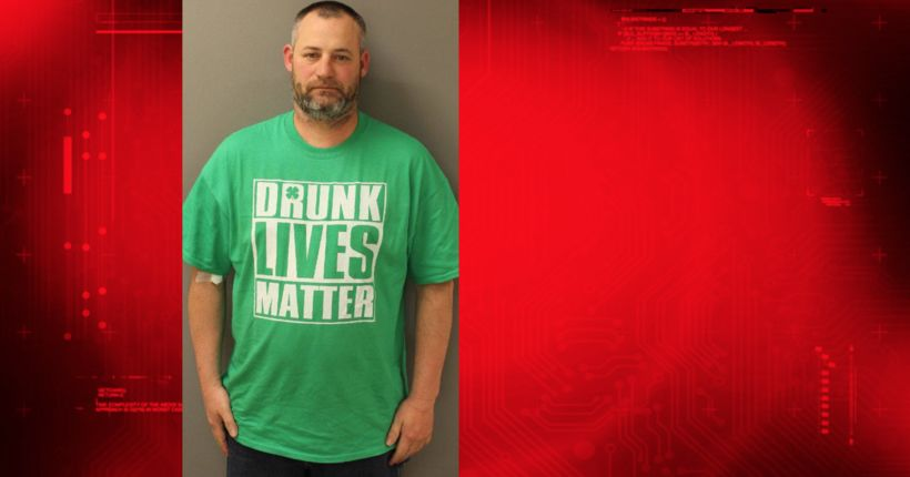 Man in 'Drunk Lives Matter' shirt charged with drunken driving