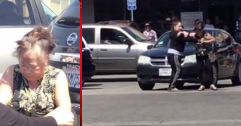 Fender-bender turns violent in thrift store parking lot, video of the fight goes viral