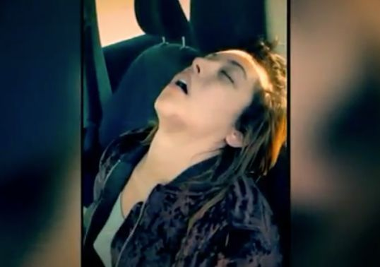 Woman caught on video ODing after crash says video saved her life