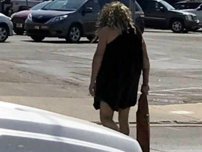 Community confused after bizarre caveman sighting