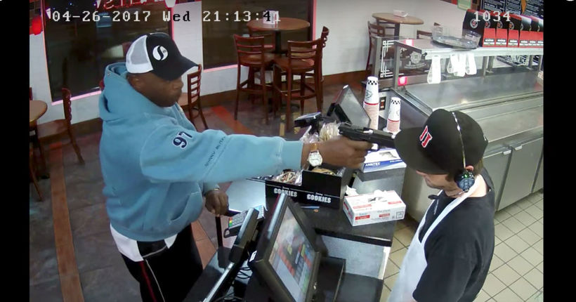 Man seen pulling out gun while ordering sandwich at Jimmy John's arrested
