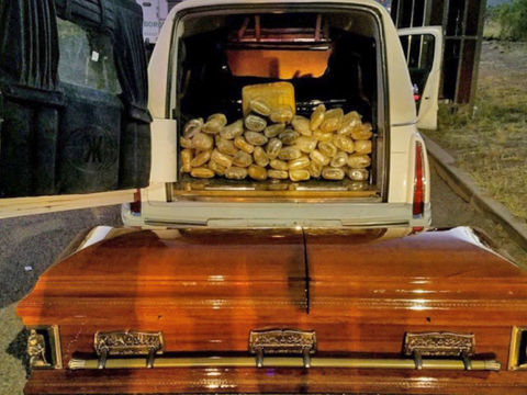 Border agents find casket filled with $33K in marijuana