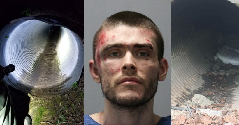 Escaped inmate found hiding in small drainage pipe, back in custody