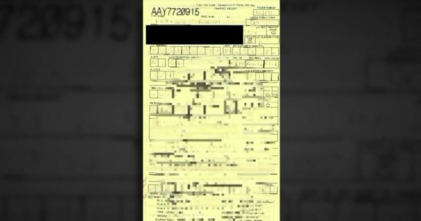 Alleged offensive scrawl on a traffic ticket leads to NYPD internal investigation