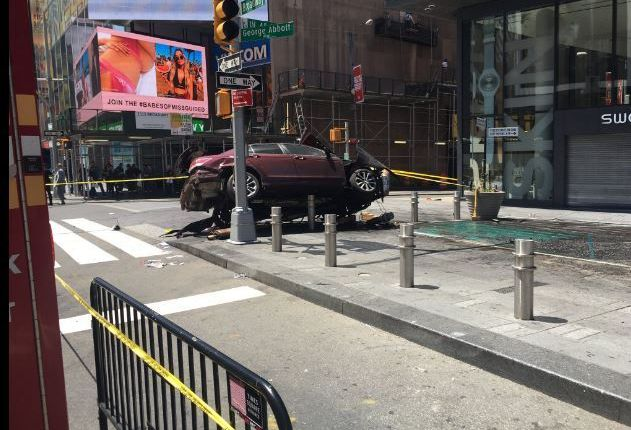 Times Square car horror: Speeding driver tore through sidewalks along 3 blocks, killing woman and injuring 22
