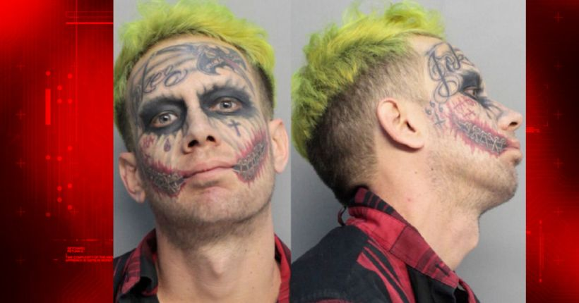 Miami 'Joker' accused of pointing loaded gun at cars