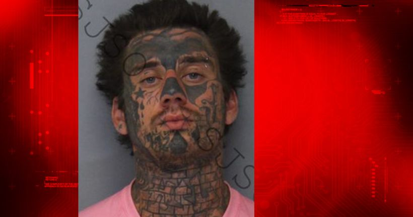 Admitted drug dealer with full-face tattoos wanted in NC caught in stolen car in Florida