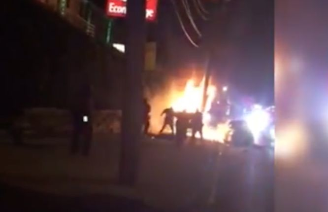 Video shows Jersey City police officers kicking victim on fire after crash