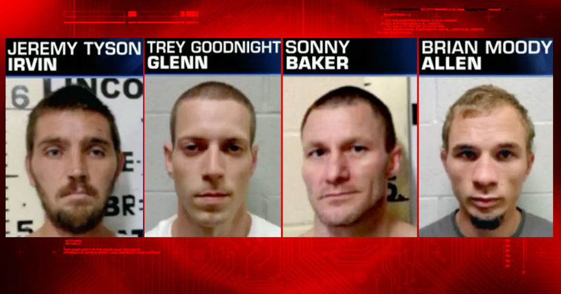 Officials searching after 4 inmates escape from Lincoln County Jail