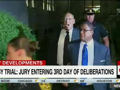 Bill Cosby does 'Fat Albert' voice while leaving court