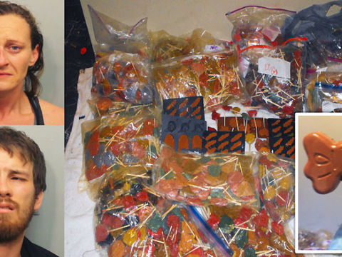 PHOTOS: $1 million in meth-laced candy seized at Texas home